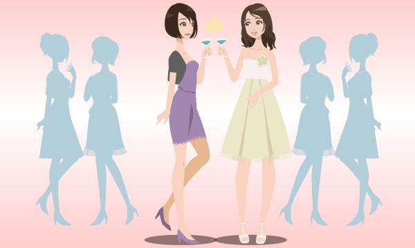 パーティー会場の女性