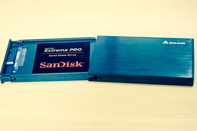 SanDiskのSSD 256GB