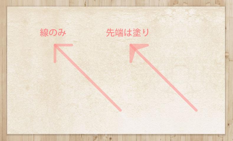 イラストレーターの半透明矢印で失敗している例