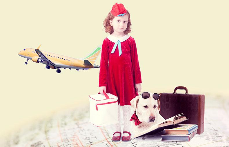 旅行をする女の子のイメージ