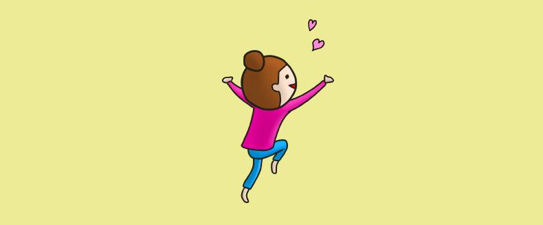 恋をする女性のイラスト