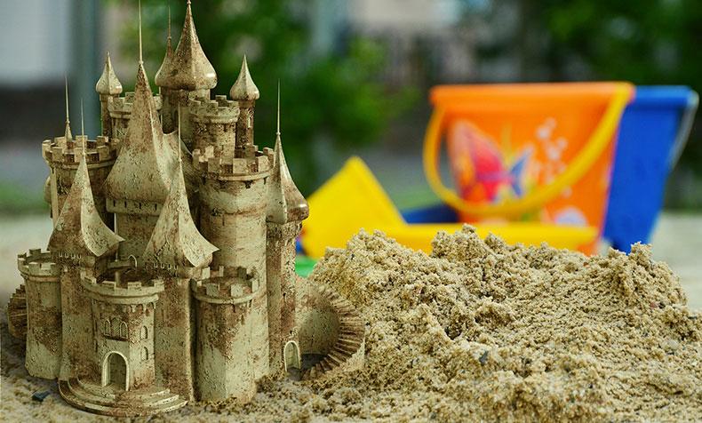 砂で作る芸術作品