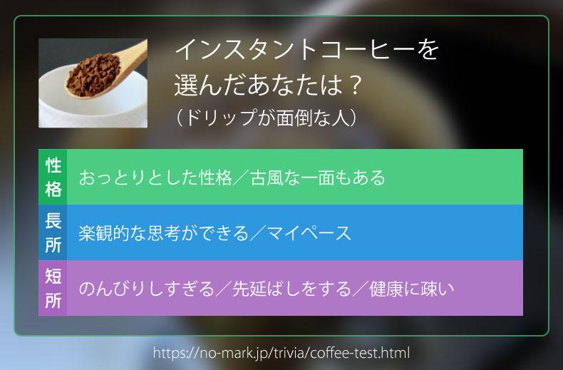 インスタントコーヒーを選んだあなたは?(ドリップが面倒な人)