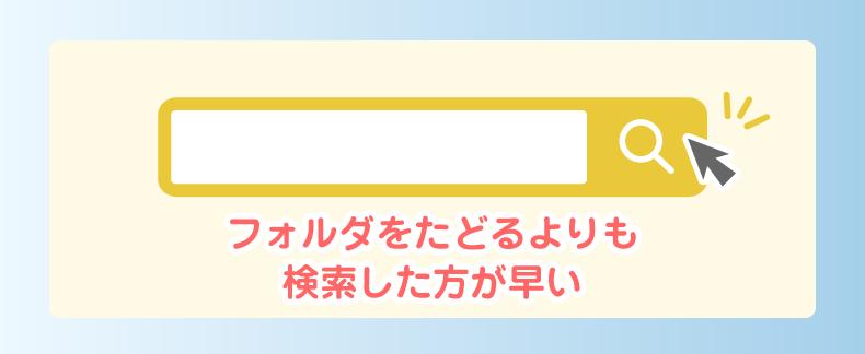 検索機能のイメージ