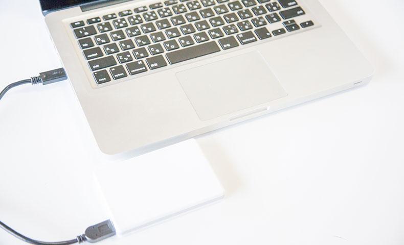 MacBookProとポータブルHDD