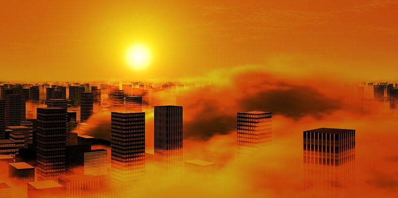 大気汚染の写真
