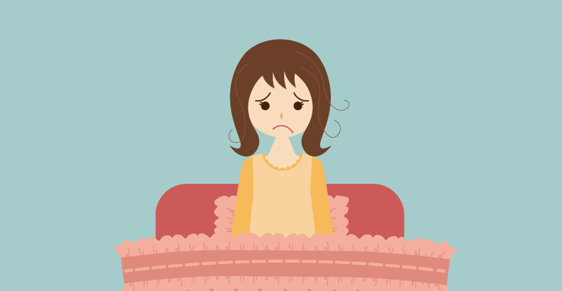 睡眠に悩む女性
